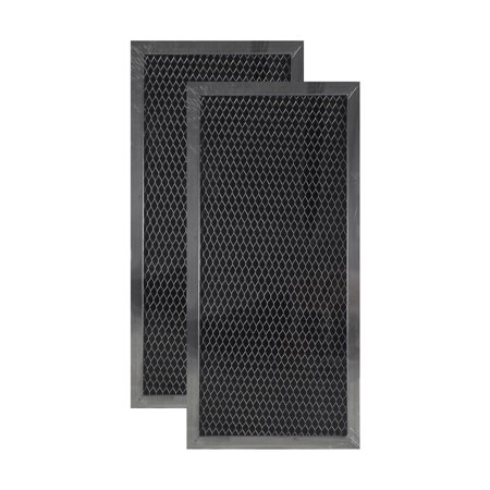 2 Pack 4393791 Whirlpool Microwave Hood Charcoal Filter Set By Air Filter Fac