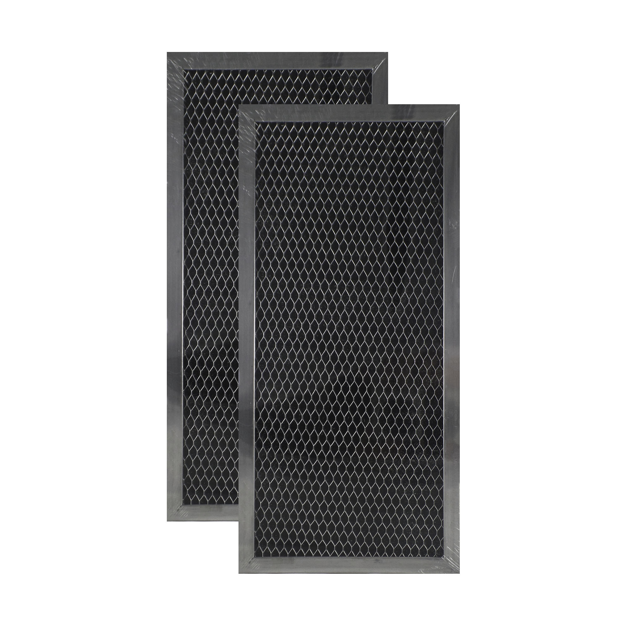 2 PACK 206800 GE Microwave Charcoal Carbon Filter Replacements by Air Filter ...