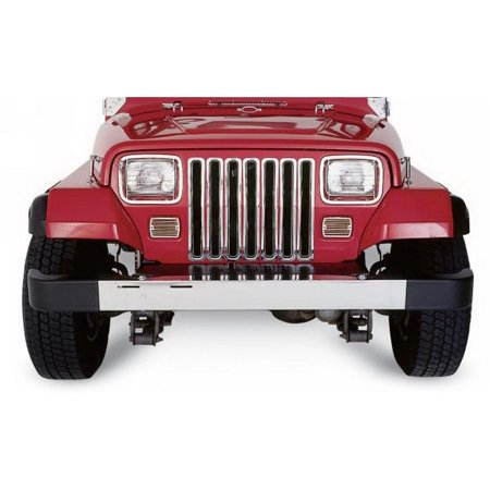 Rampage 7511 Grille Insert  Overlay; Without Emblem Cutouts/Without Light Cutouts; Chrome Plastic - image 2 de 2