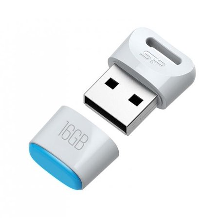 16GB Silicon Power Touch T06 Compact USB Flash Drive White