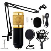 Microphone for Computer Complete Kit BM800 For Podcast, Singing, Broadcasting Studio Pro Audio Recording Arm Stand Shock Mount
