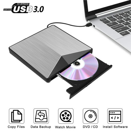 EEEkit External DVD CD Drive USB 3.0 Slim Aluminum ...