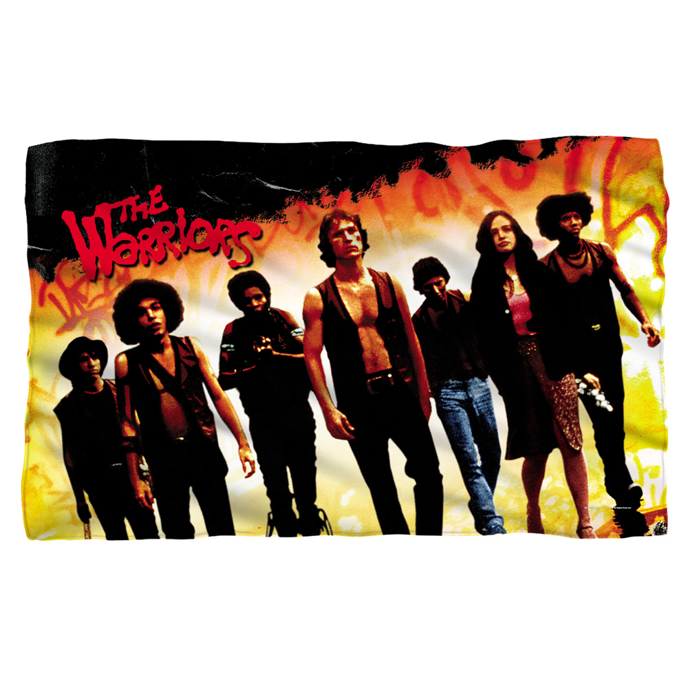 Warriors Walk Fleece Blanket White 48X80
