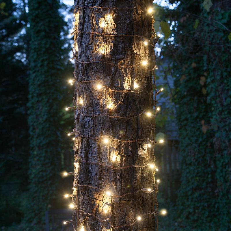 Stretchnet Pro Expandable Christmas Net Lights Tree Wrap Lights Trunk Wrap Lights Column Christmas Lights Column Wrap Lights 50 Lights 20 X 45 Net Warm White Trunk Wrap Lights Brown