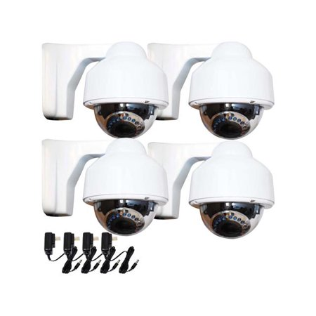 VideoSecu 4x Weatherproof Outdoor Indoor IR Day Night Vision Security Camera 700TVL Built-in Sony Effio CCD w/Powers bos