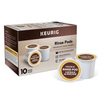 Keurig 10ct Rinse Pods, Reduce Flavor Carry-Over, Brews in both Classic 1.0 and Plus 2.0 Series K-Cup Pod Coffee Makers