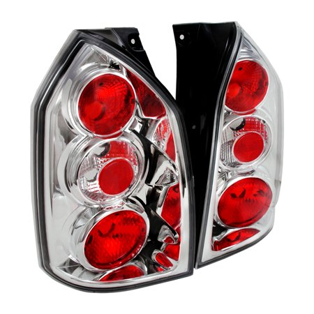 Spec-D Tuning For 2004-2009 Tucson Altezza Tail Lights Brake Lamp Chrome/ Clear 2004 2005 2006 2007 2008 2009 (Left+Right)