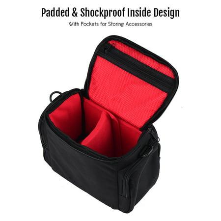 CADEN Padded Camera Bag Zippered Design Shockproof Black for Nikon Canon Sony DSLR Cameras Lenses Small Size - image 5 de 7