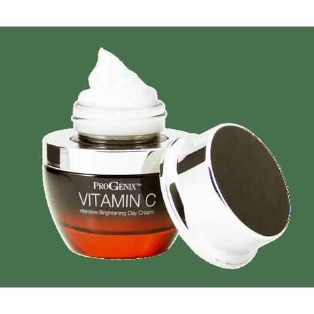Progenix Vitamin C Intensive Brightening Day Cream for dark spots, age spots, and uneven skin tone.