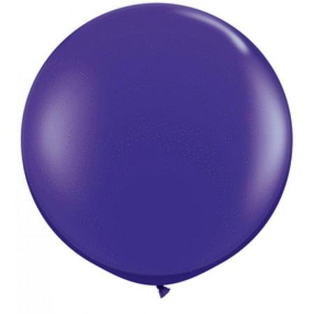 Koyal Wholesale Round Latex Giant Balloon (Pack of 2), 3', Purple (Wholesale Latex Balloons)