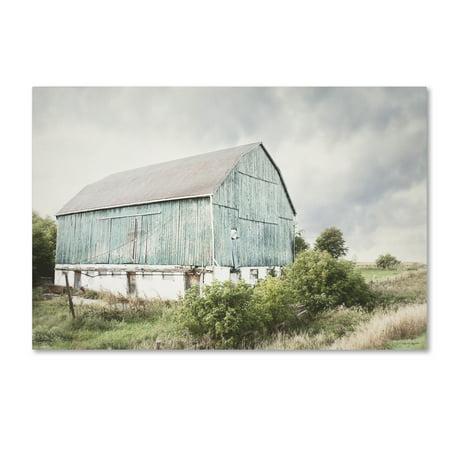 Barn Folk Art (Trademark Fine Art 'Late Summer Barn I Crop' Canvas Art by Elizabeth Urquhart)