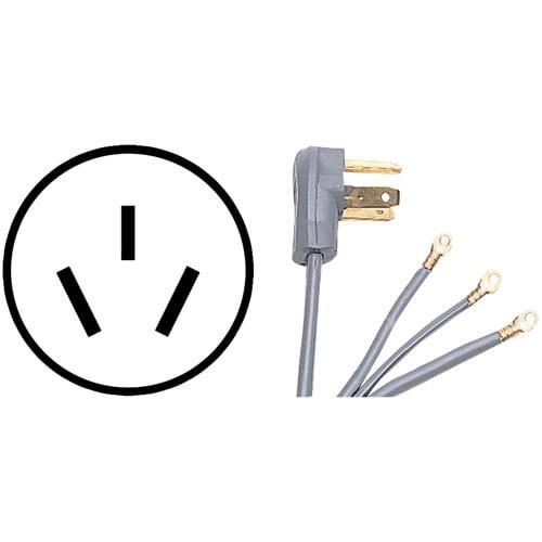 Certified Appliance 90-1080 3-Wire Range Cord, 4', 50A