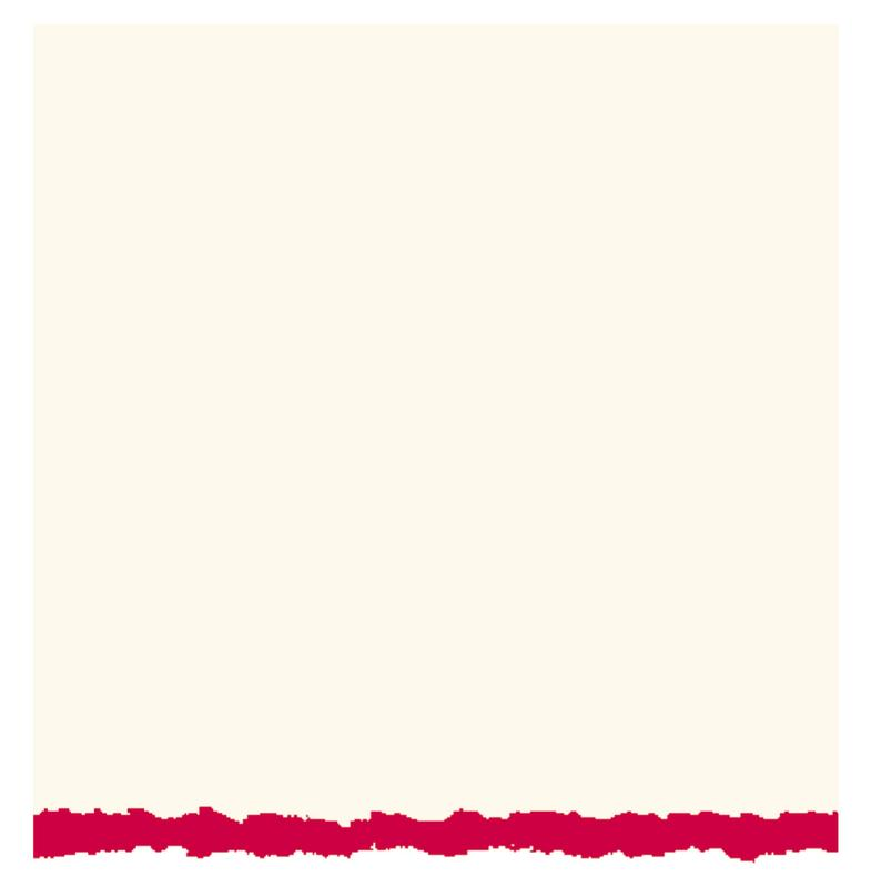 Strathmore Creative Cards, Full Size, White with Red Deckle, 50/Pkg.
