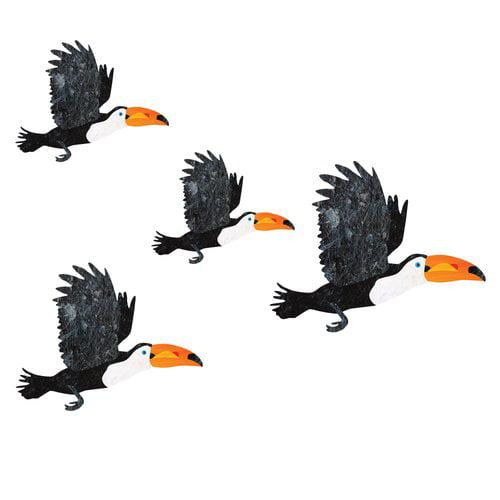 My Wonderful Walls 4 Piece Flying Toucan Bird Wall Decal Set