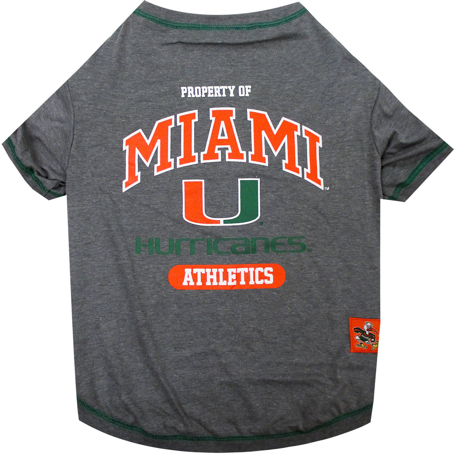 Pets First Collegiate Miami Hurricanes University Pet T-shirt, Assorted Sizes