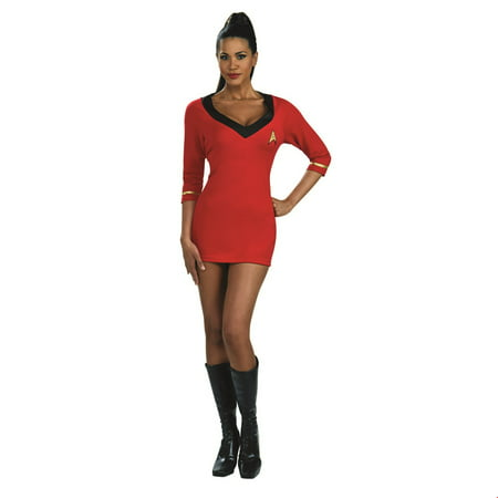 Star Trek Womens Secret Wishes Red Dress Adult Halloween Costume - Star Trek Adult Onesie