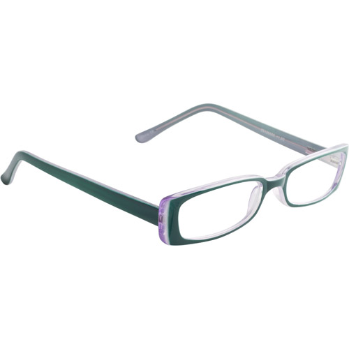 Wink by ICU 1.25 Fashion Reading Glasses, teal and lavender