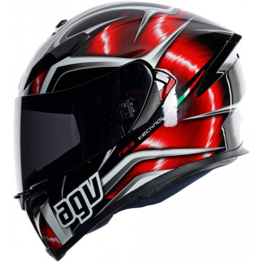 AGV K-5 Hurricane Motorcycle Street Helmet Red/Black