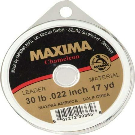 Maxima Chameleon Leader 30lb, 17 yard, .022 inch leader material