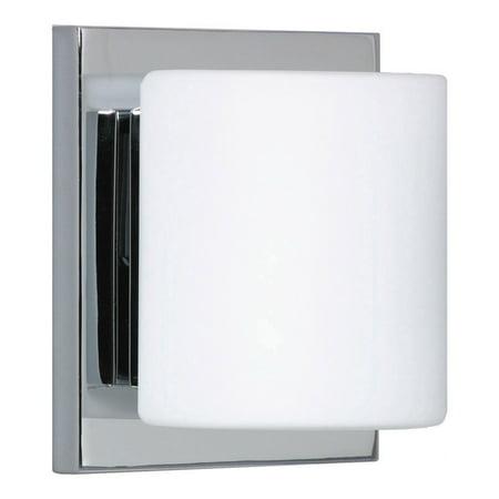 Besa Lighting 1WS-787307 Chrome Paolo 1 Light Ada Compliant Halogen Bathroom Sconce Flush Ada Sconce
