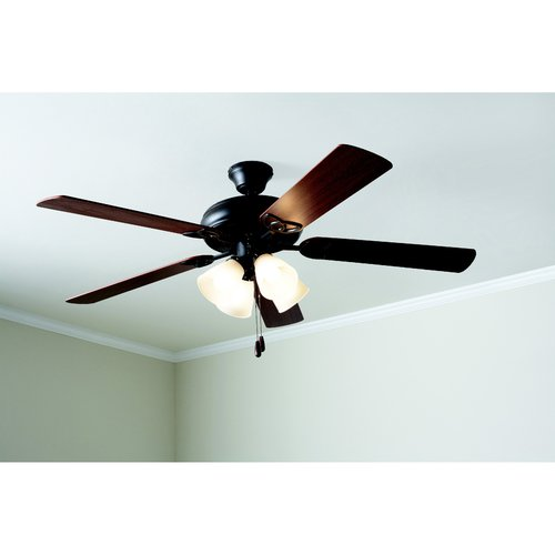 mainstays 52 quot ceiling fan with light kit bronze