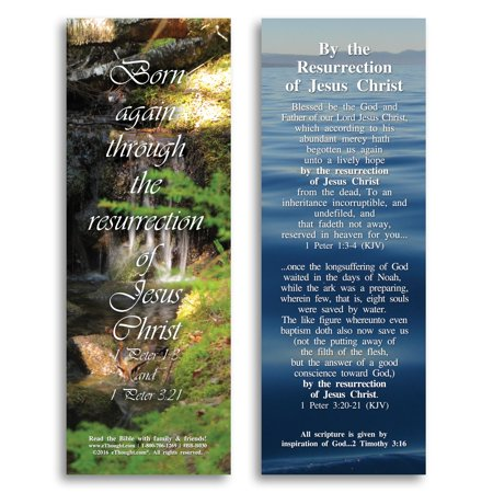 By the Resurrection of Jesus Christ - Bible Cards - Pack of 25](Halloween Resurrection Cast)