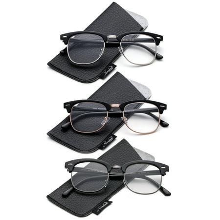 Classic Half Frame Clear Lens Glasses Non Prescription Eyeglasses for Men & for (Fashion Non Prescription Glasses)