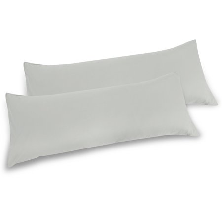 2 Soft Microfiber Body Pillow Cover for Body Pillows Light Gray (Polyester Anime Body Pillow Case)