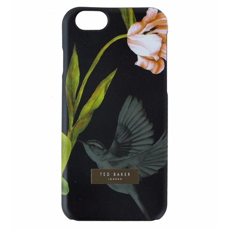 (Ted Baker Slim and Trim Case Cover Apple iPhone 6s 6 - Black / Flower and Bird)