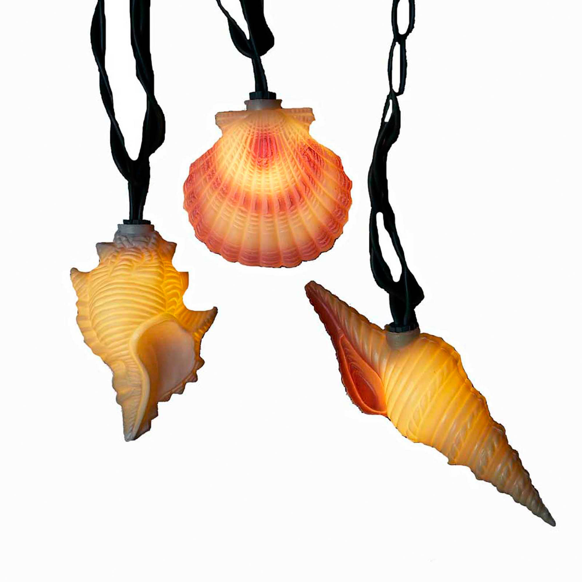 Kurt Adler 10-Light Conch and Shells Light Set