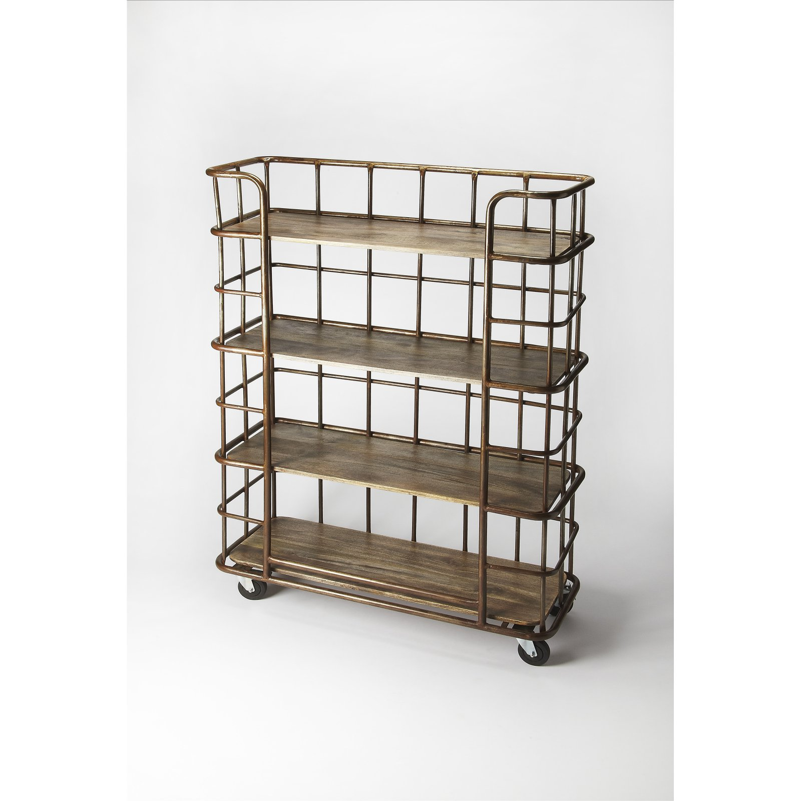 Butler Industrial Chic Antioch Etagere Bookcase Bronze by Butler Specialty