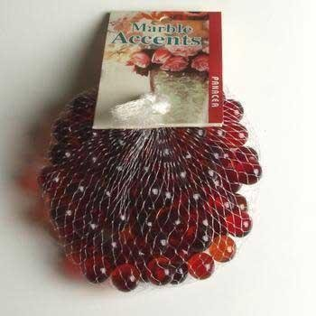 Panacea Red Glass Marbles 100 Count 1/2