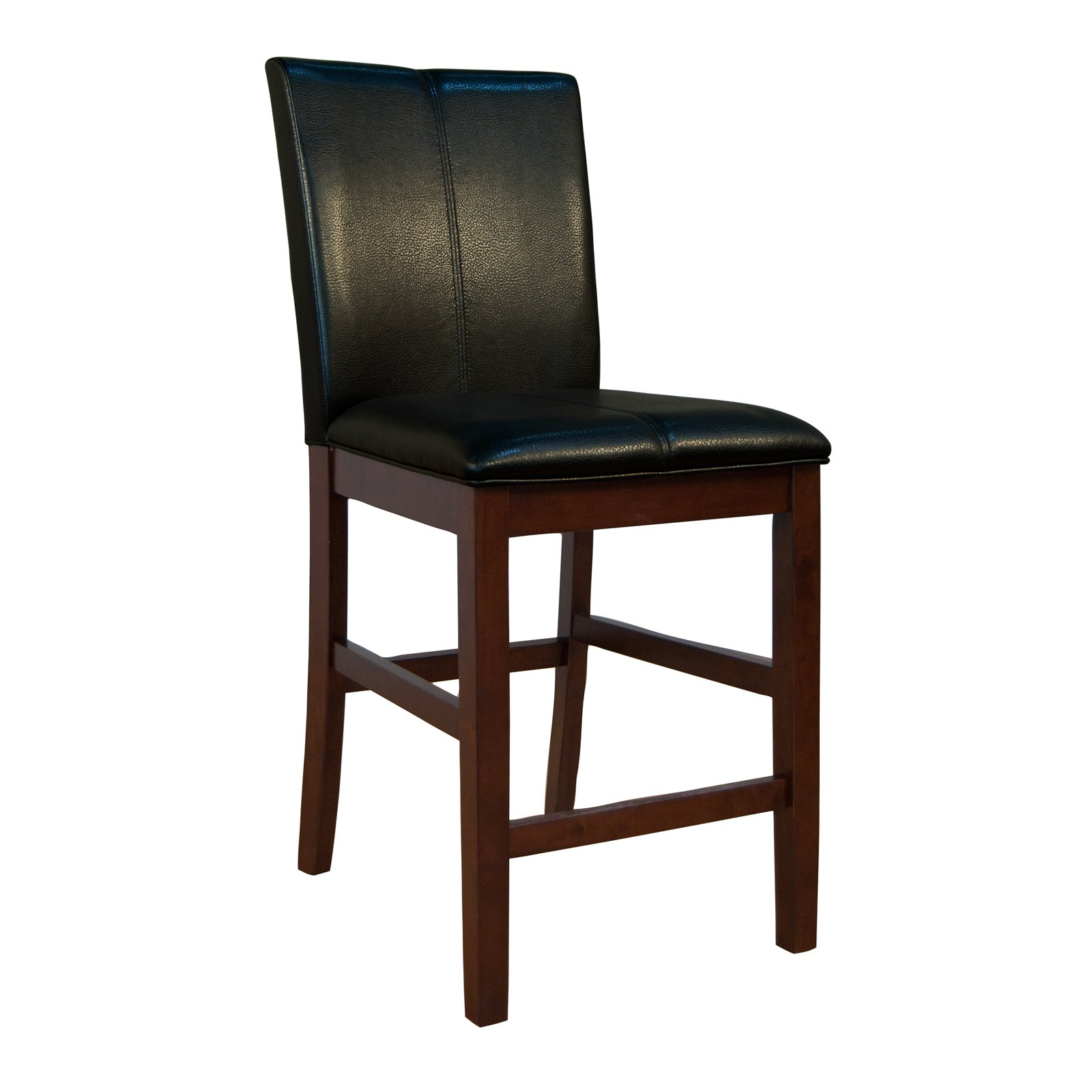 A America Parsons Curved Back Counter Stool Espresso