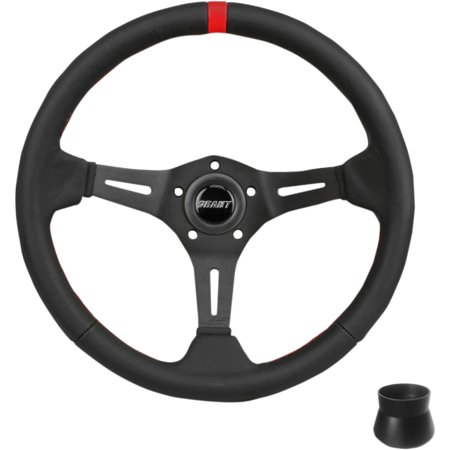 Grant 69270 Standard Mount Steering Wheel Kit - Black Leather with Red Center Marker
