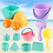 Beach Toys Set for Kids Toddlers 11pcs Beach Sand Toy Set Including Sand Truck, Beach Molds, Beach Bucket, Beach Shovel Tool Kit, Sandbox Toys Toddlers