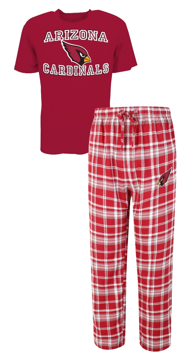 "Arizona Cardinals NFL ""Tiebreaker"" Men's T-shirt & Flannel Pajama Sleep Set by Concept Sports"