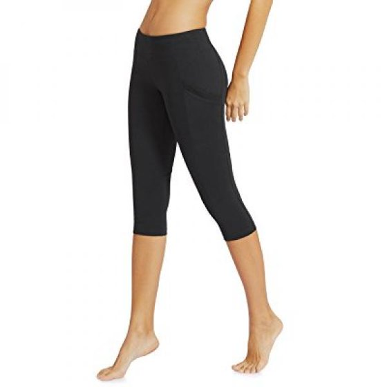 huge inventory great prices new lifestyle Baleaf Women's Yoga Workout Capris Leggings Side Pocket for 5.5 Mobile  Phone Black M
