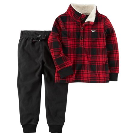 Carter's Baby Boys' 2-Piece Little Jacket Set, Plaid 3