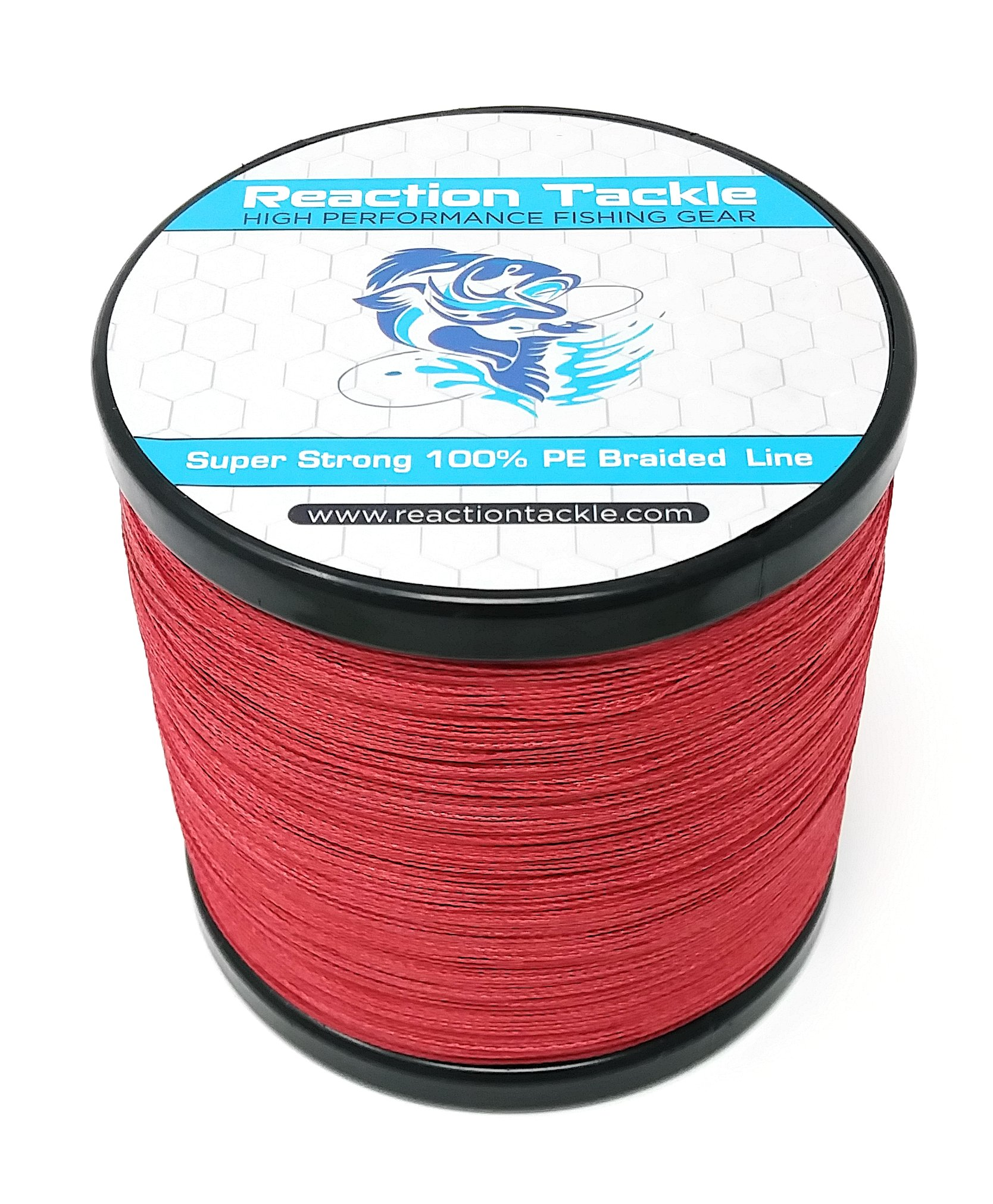 Reaction Tackle Braided Fishing Line Dark Red 50lb 1500yd Walmart Com