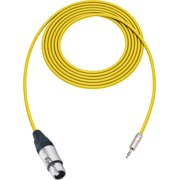Sescom SC1.5XJMZYW Audio Cable Canare Star-Quad 3-Pin XLR Female 3.5mm TRS Male Yellow - 1.5 Foot
