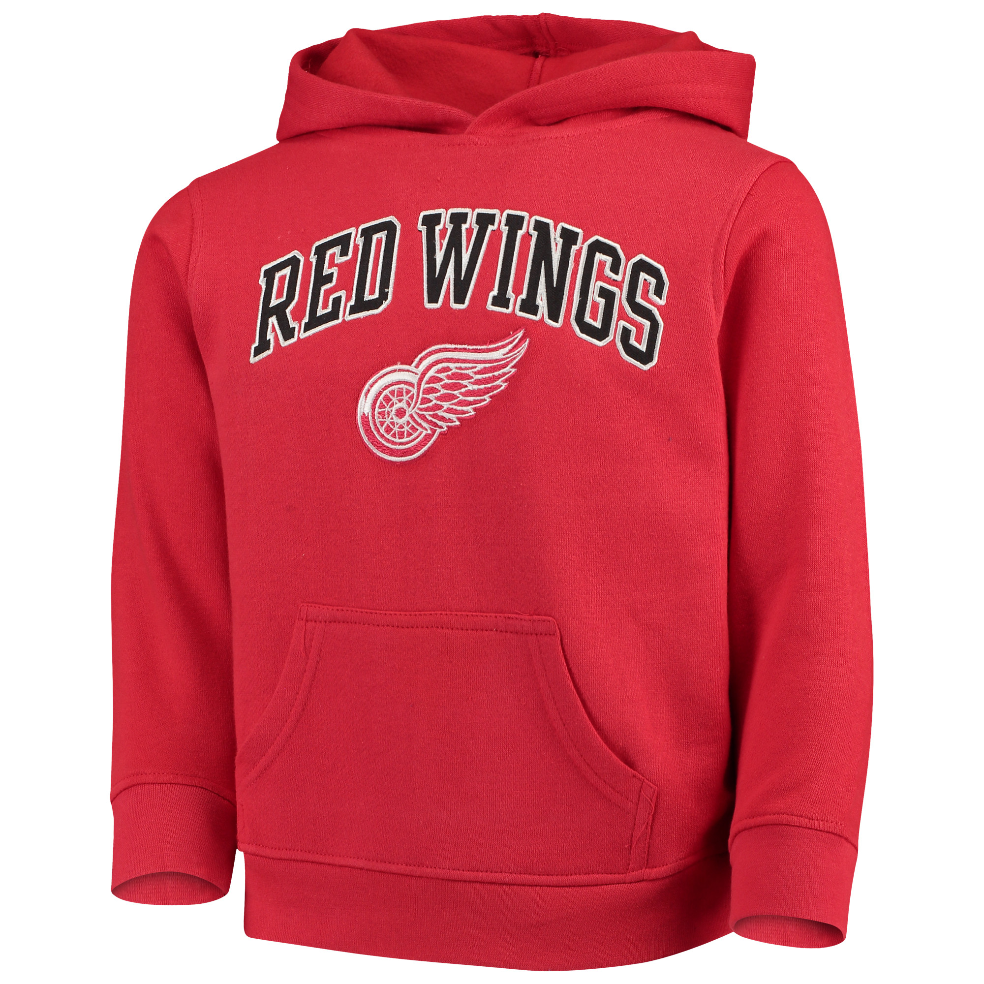 Youth Red Detroit Red Wings Team Logo Pullover Hoodie