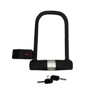 u lock bike lock heavy duty high security with mounting bracket and 2 keys. Black Bedroom Furniture Sets. Home Design Ideas