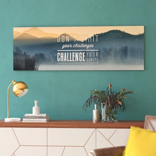 Ivy Bronx 'Challenge Your Limits' Oil Painting Print on Wrapped Canvas
