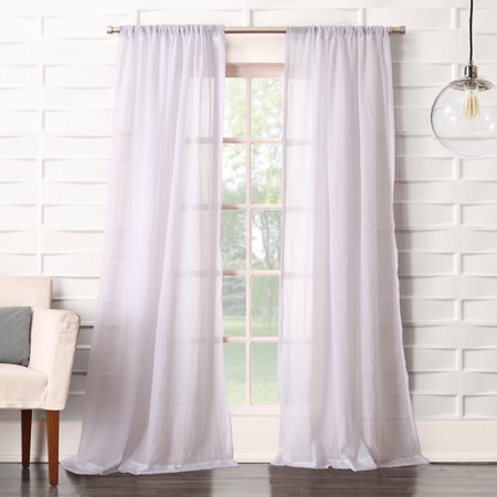 No. 918 Vida Semi-Sheer Rod Pocket Single Curtain Panel
