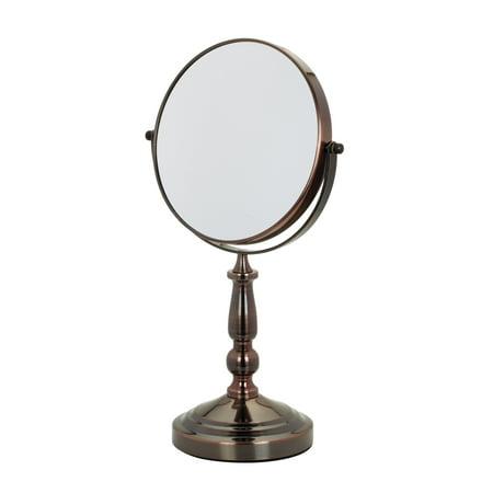 Copper Vanity Stand - Danielle Vanity 5x and True Image Mirror, Copper