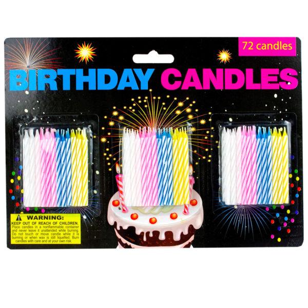 Birthday Candle Set (Pack Of 24)