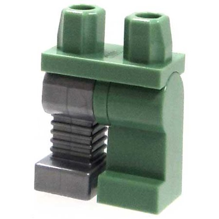 LEGO LEGO Monster Fighters Sand Green Hips & Leg with Silver Cybernetic Right Leg Loose Legs