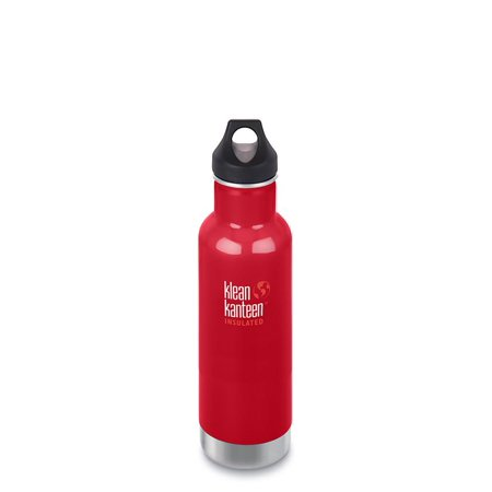 Klean Kanteen 20oz Insulated Portable Drinkware with Loop Cap - Red