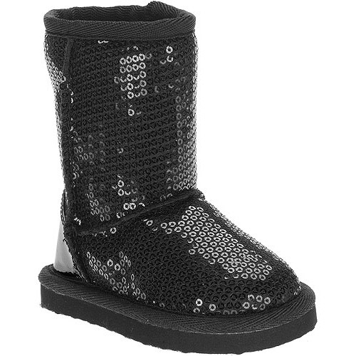 Faded Glory Baby Girls' Sequin Boots