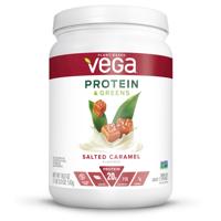 Vega Plant Protein & Greens Powder, Salted Caramel, 20g Protein, 1.1 Lb